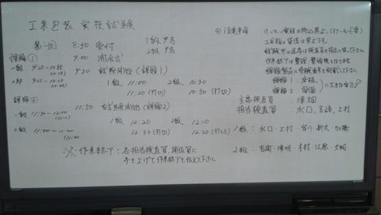試験に関する内容とスケジュール